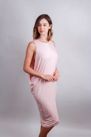 Pink Open shoulder dress