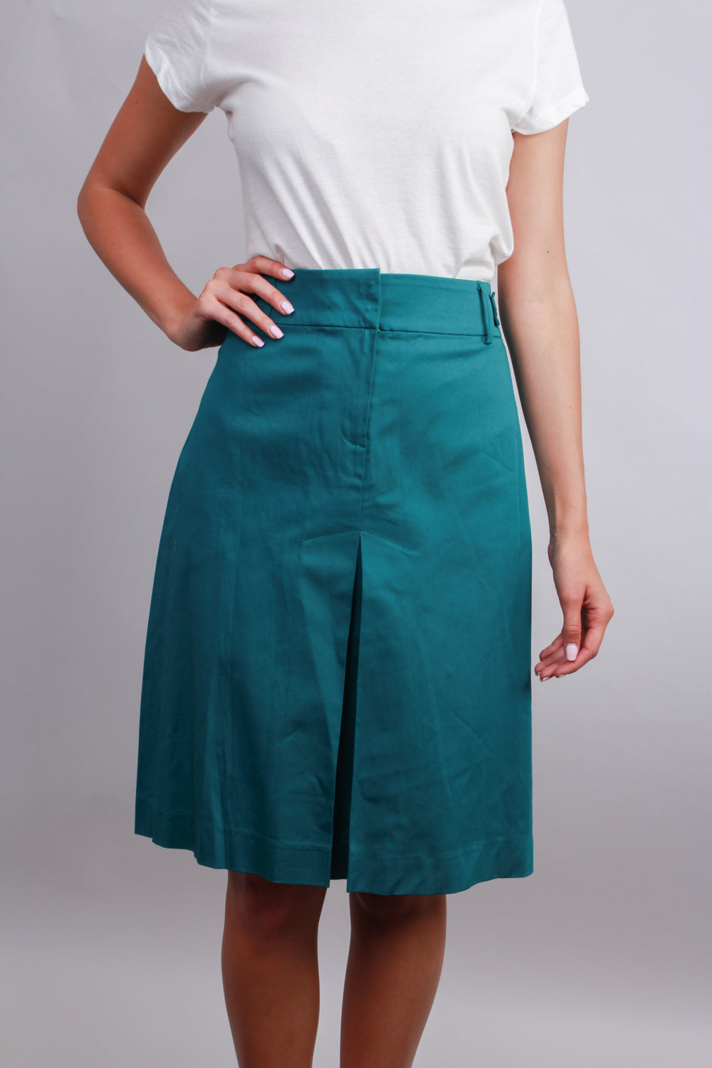 Women's  Skirt With Faux Front Slit