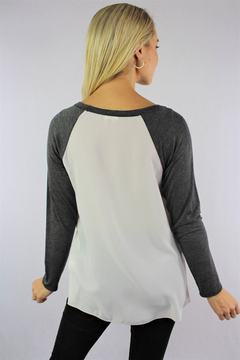 Women's Long Sleeve Raglan Top