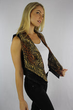 Women's Animal Print Hi Low Vest