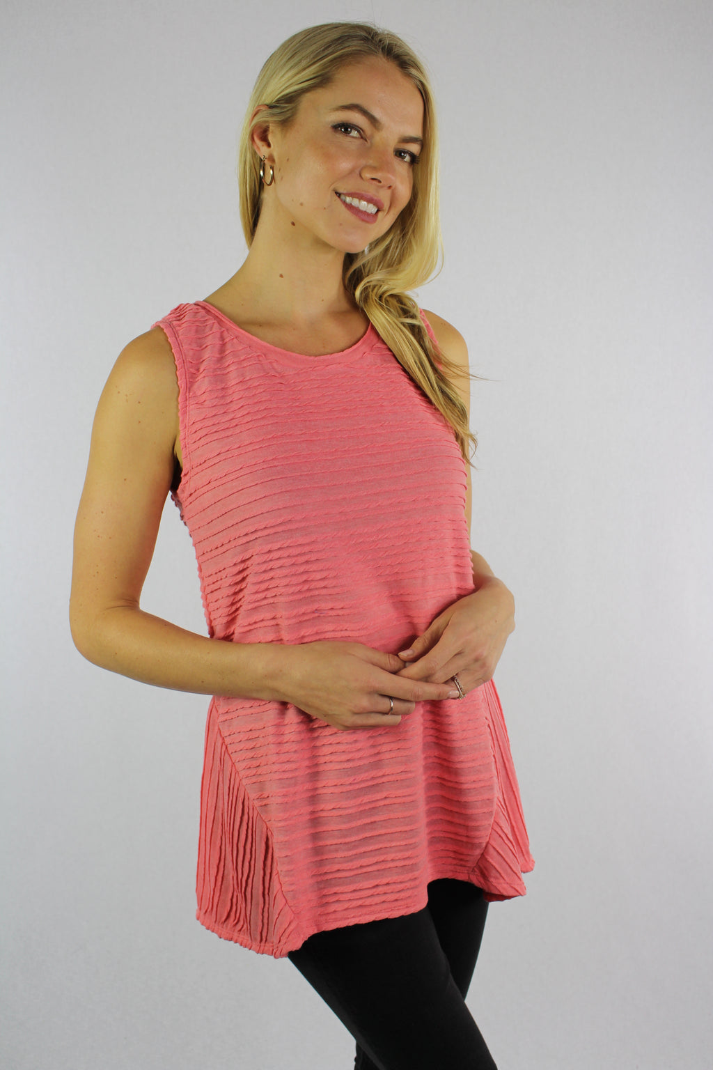 Women's Sleeveless Wide Hem Top