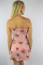 Women's Mini Dress with Floral Design