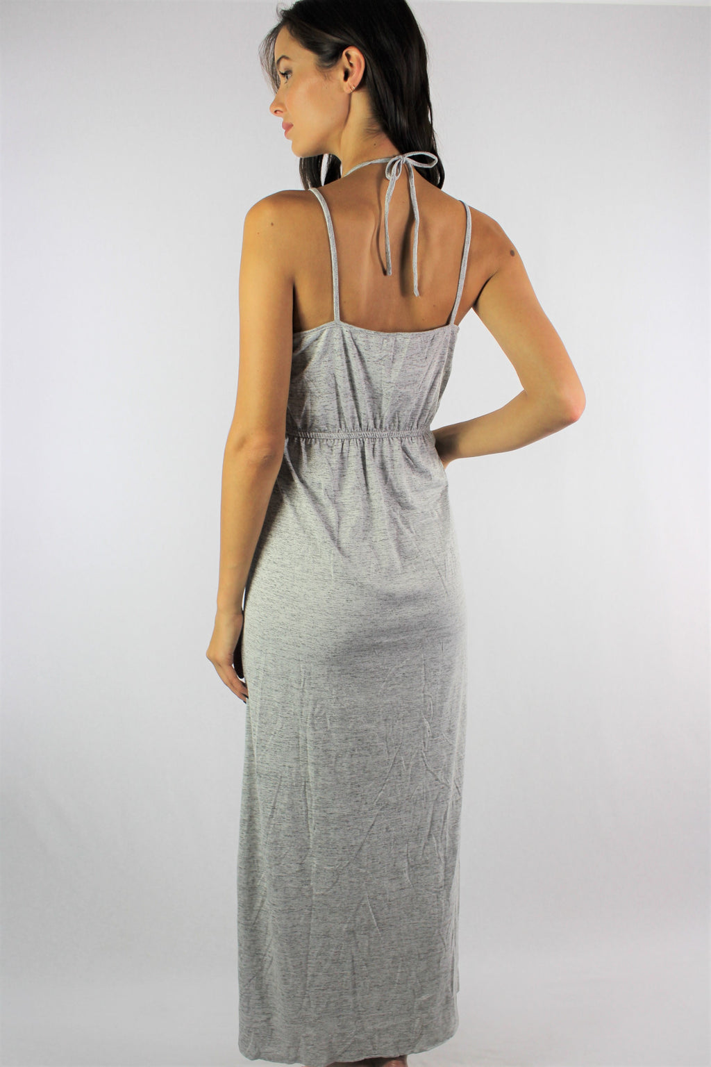 Women's Strappy Hi Low Dress with Cinched Waist
