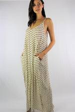 Women's Strappy Printed Maxi Dress