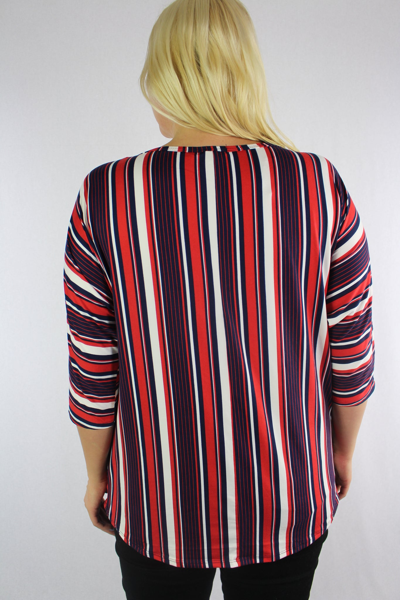 Women's Plus Size 3/4th Sleeve Printed Top