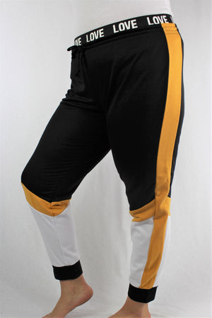 Women's Plus Size Tri Color Jogger