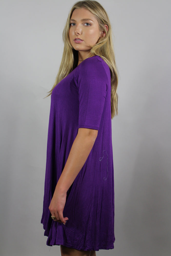 3/4th sleeve tunic dress