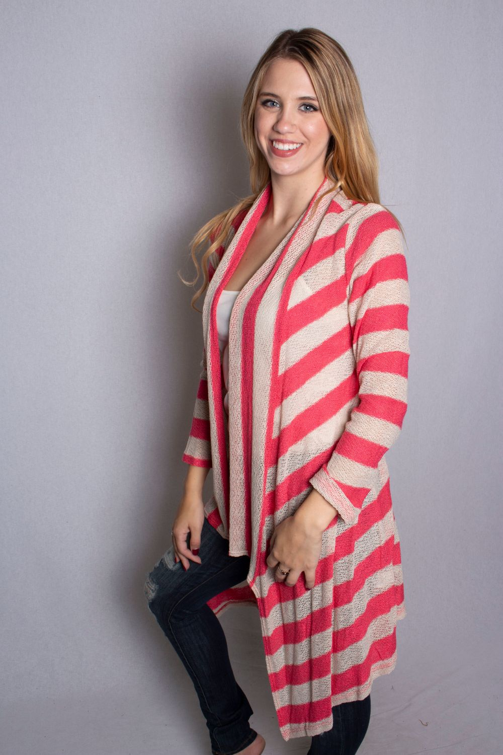 Women's Open Front Knit Cardigan