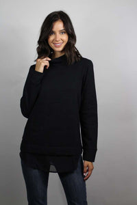 long sleeve mock neck sweater top