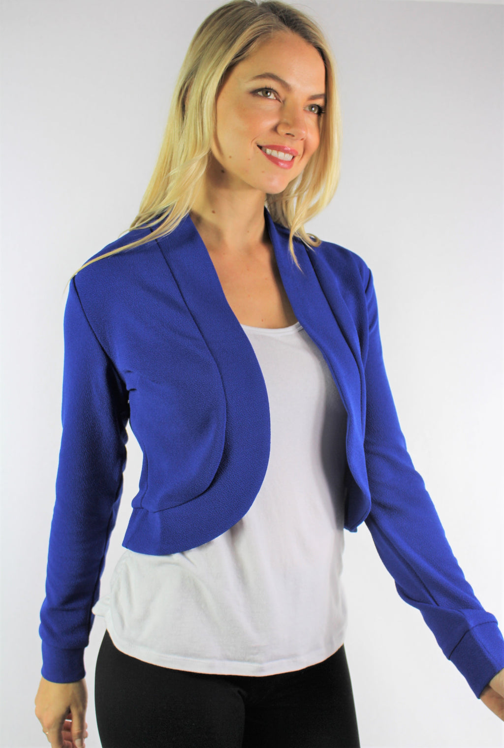 Women's Long Sleeve Open Front Mini Blazer