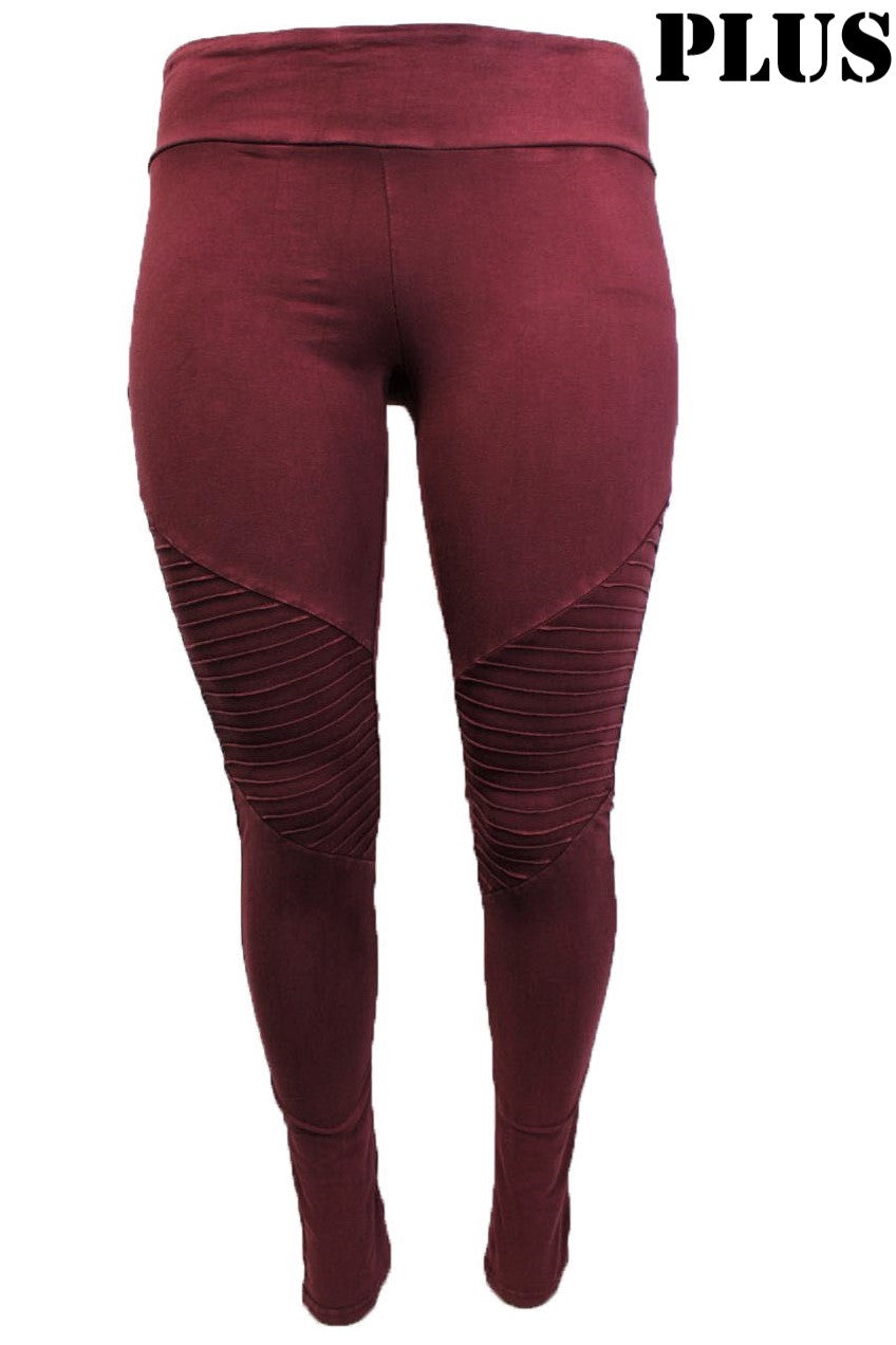 Women's Plus Size Shirred Comfy Leggings