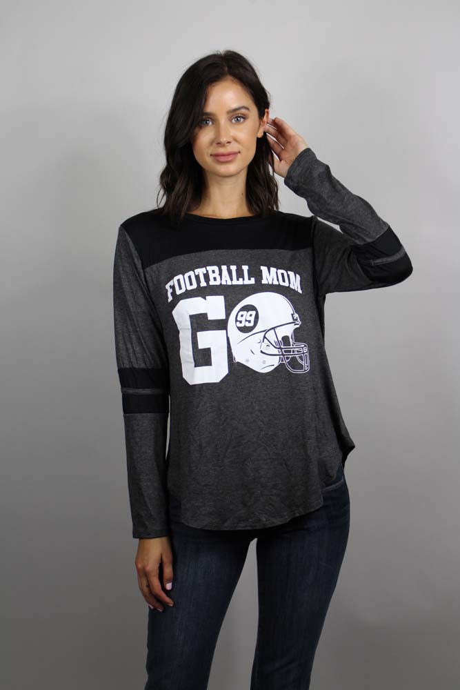 Women's Football Mom Long Sleeve Top