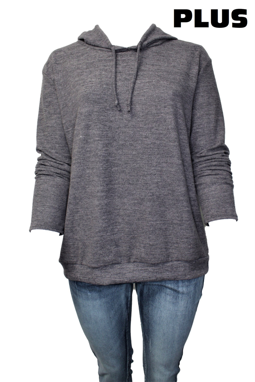 Women's Plus Size Long Sleeve Comfy Hoodie