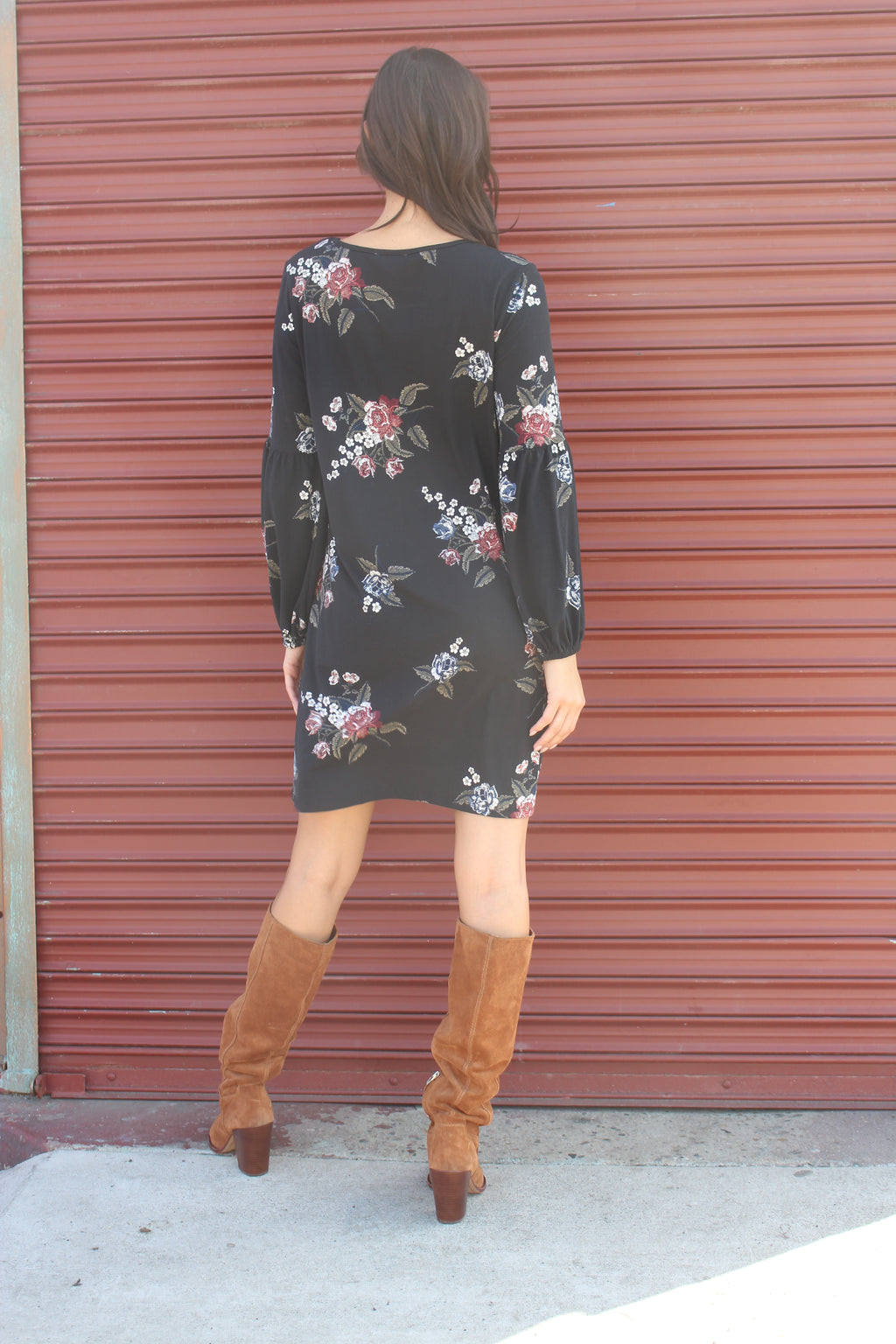 Women's Long Sleeve Floral Dress