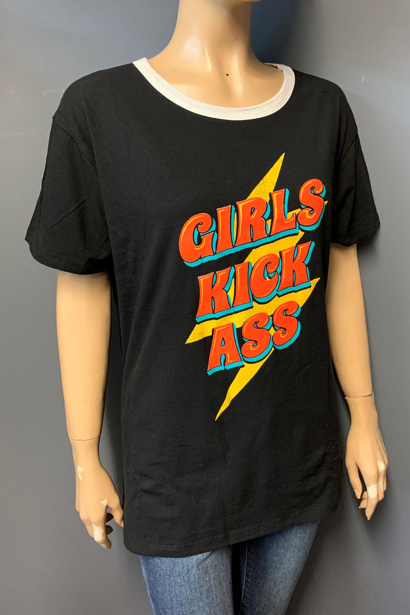 "Women's Printed ""Girls Kick Ass"" Top (LAST PACK)"