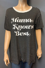 "Women's Printed ""Mama Knows Best"" Top (LAST PACK)"