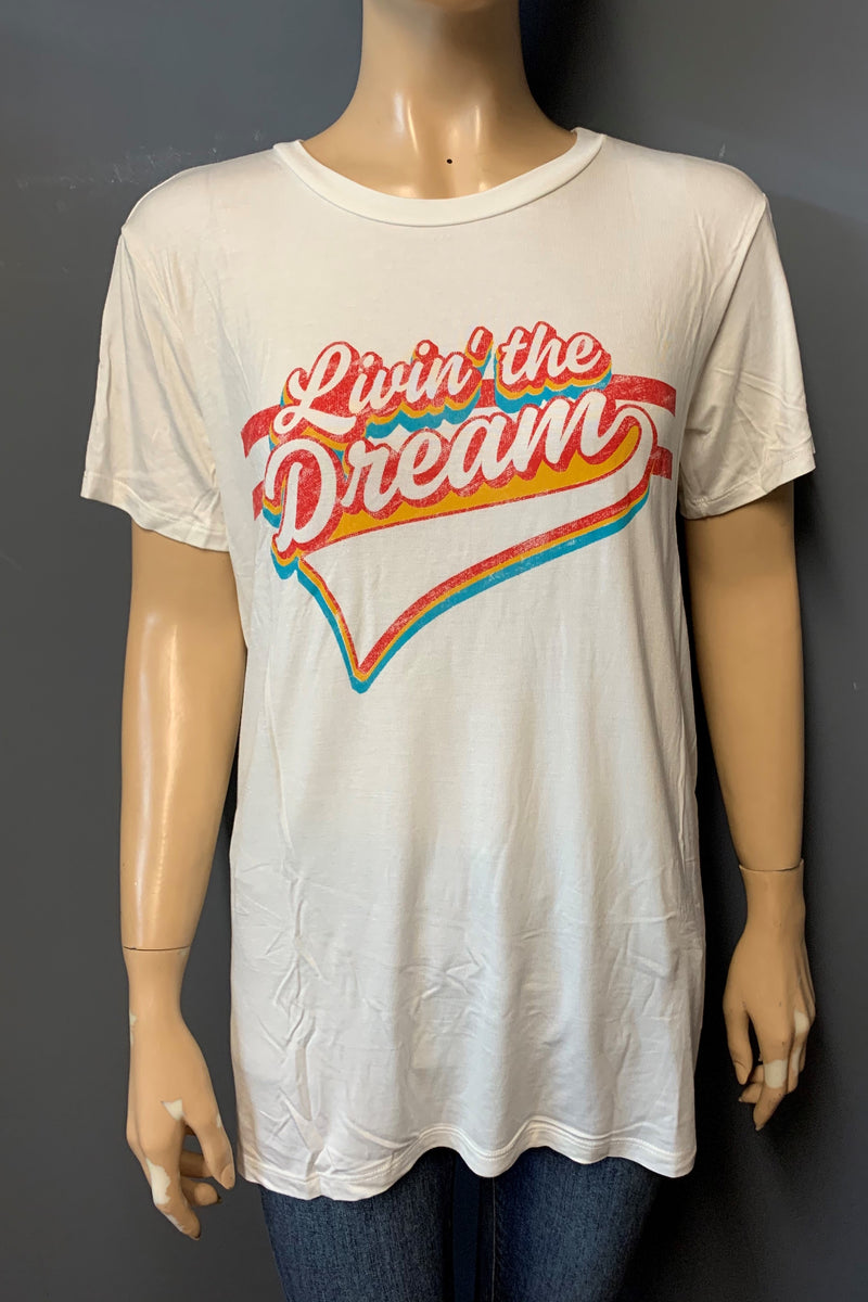 "Women's Printed ""Livin' the Dream"" Top (LAST PACK)"