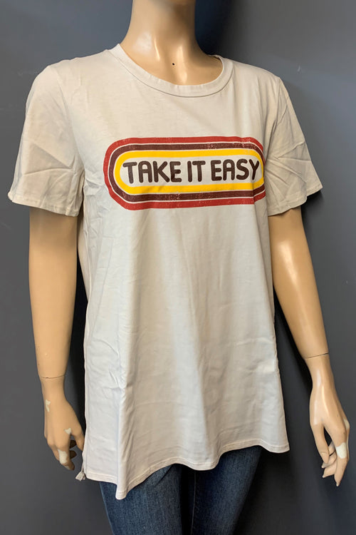 "Women's Printed ""Take It Easy"" Top (LAST PACK)"