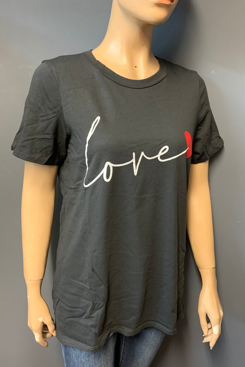 "Women's Printed ""love"" Top (LAST PACK)"