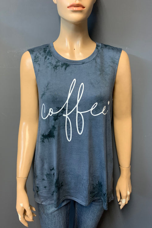 "Women's Printed ""Coffee"" Tank Top (LAST PACK)"