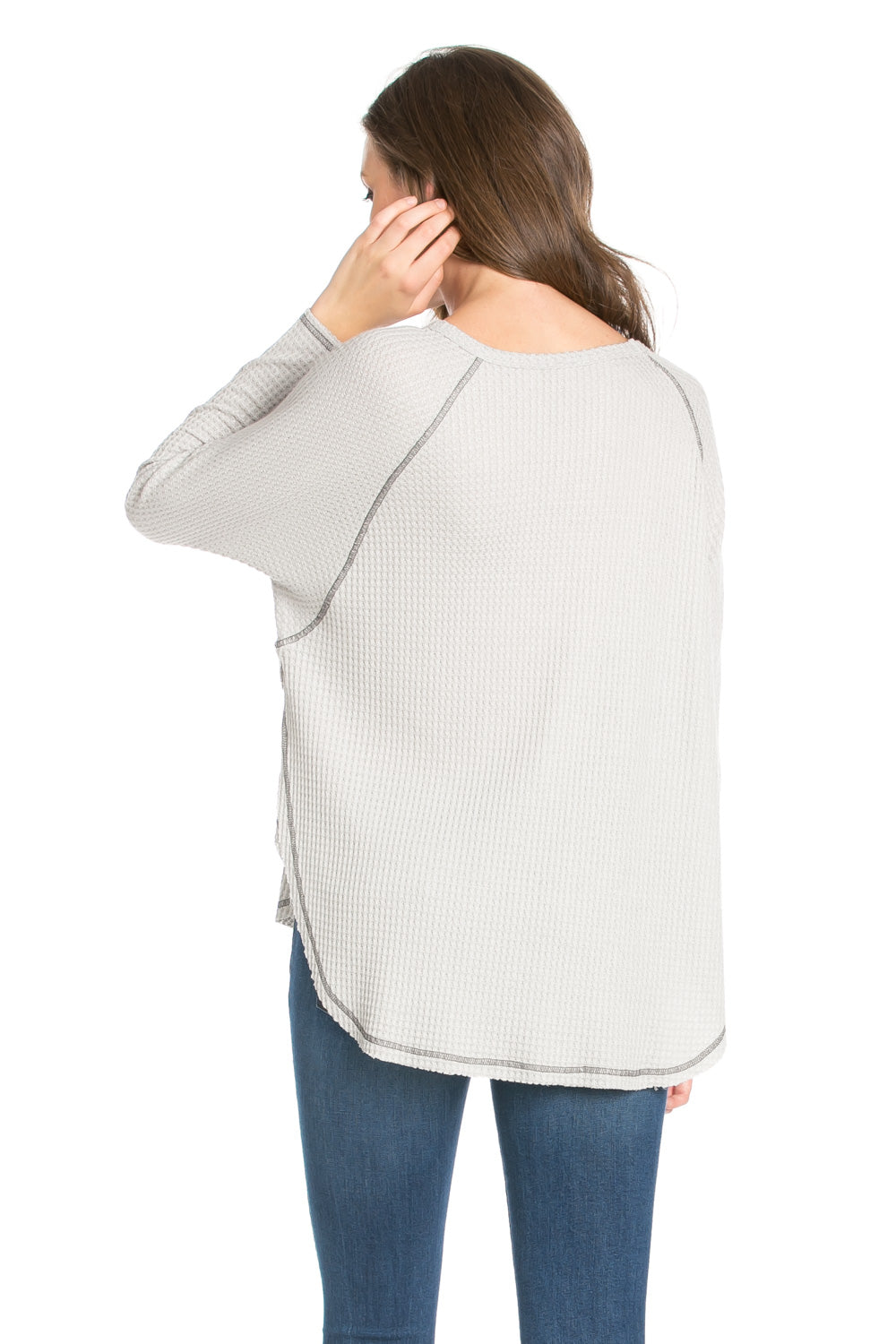 Casual L/S Hi-Low Hemline Top