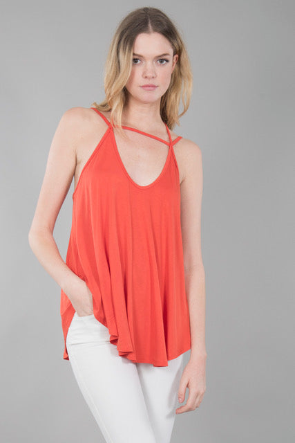 deep v Halter Cami Top