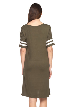 PLUS  Football Raglan Dress