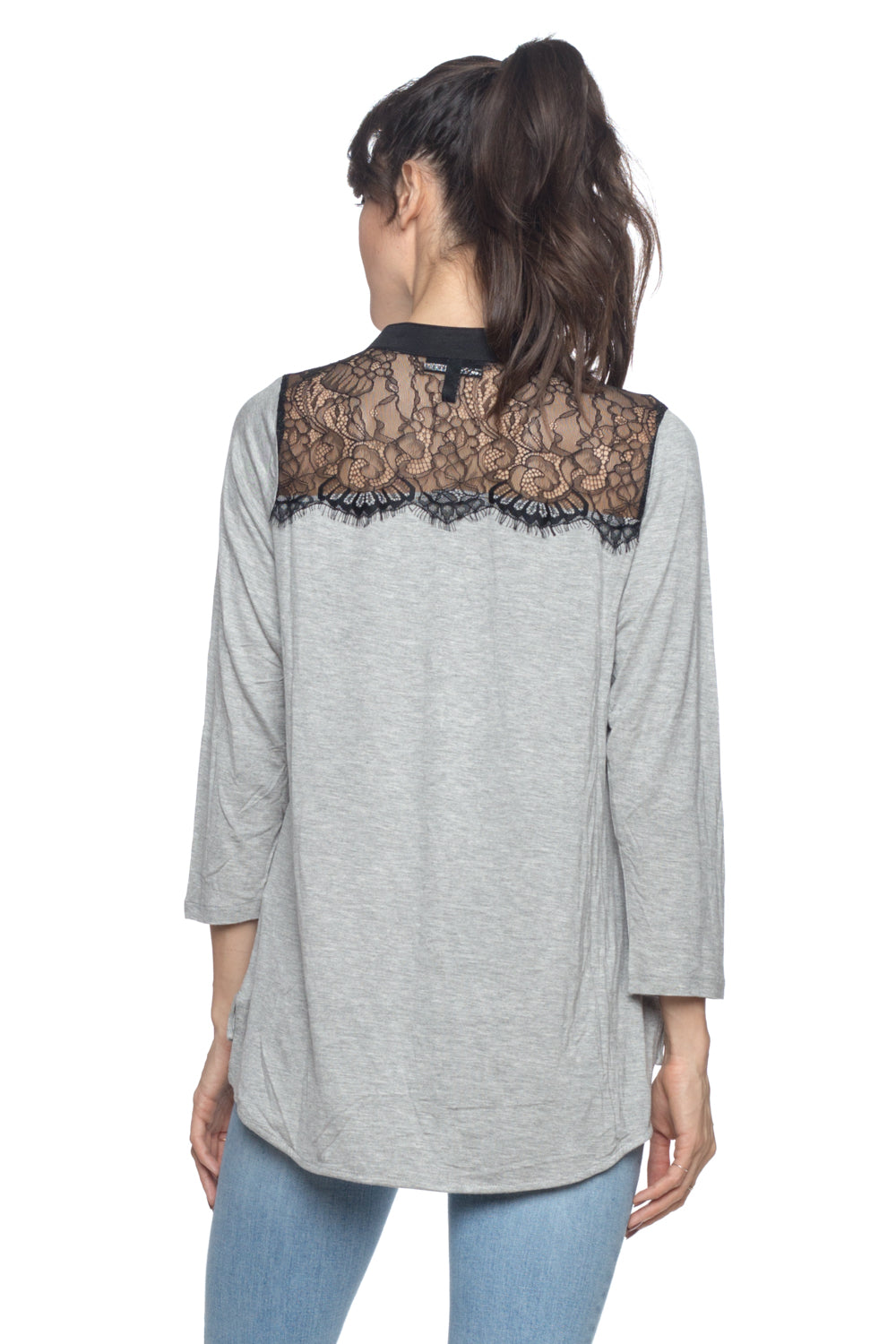 Women's 3/4 Sleeve Lace Top