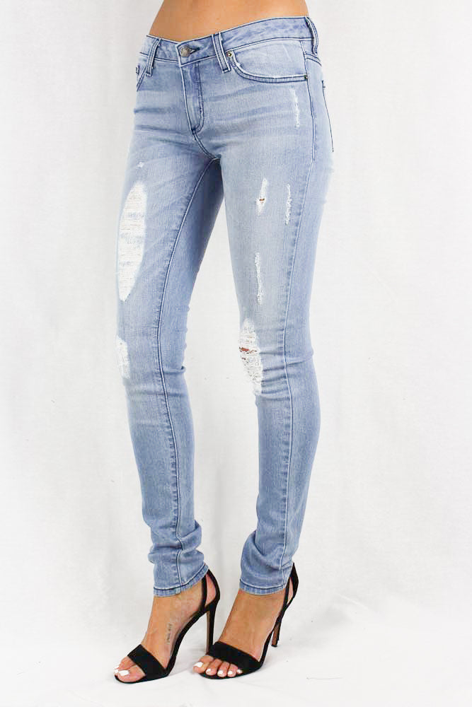 Lightly Distressed Stone Washed Jeans