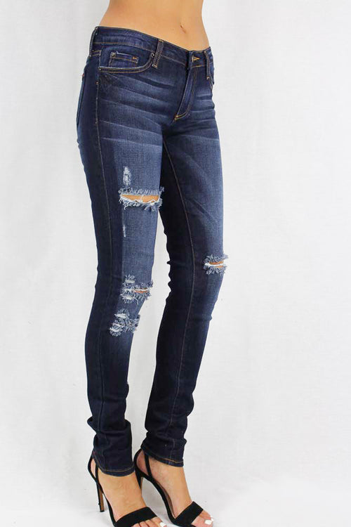 Dark Stone Washed Women's Jeans
