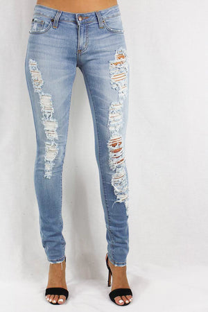 Women's Lightly Faded Skinny Jeans