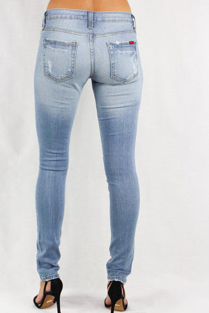 Women's Faded Distressed Jeans