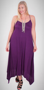Plus Size String Strap Maxi Dress