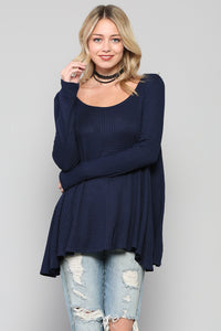Ribbed Thermal Long Sleeve Top