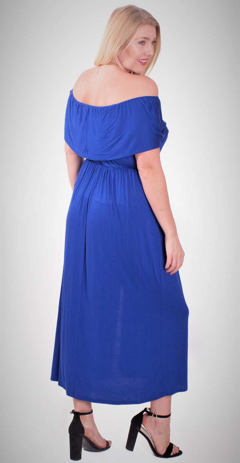 Plus Size Off Shoulder Maxi Dress