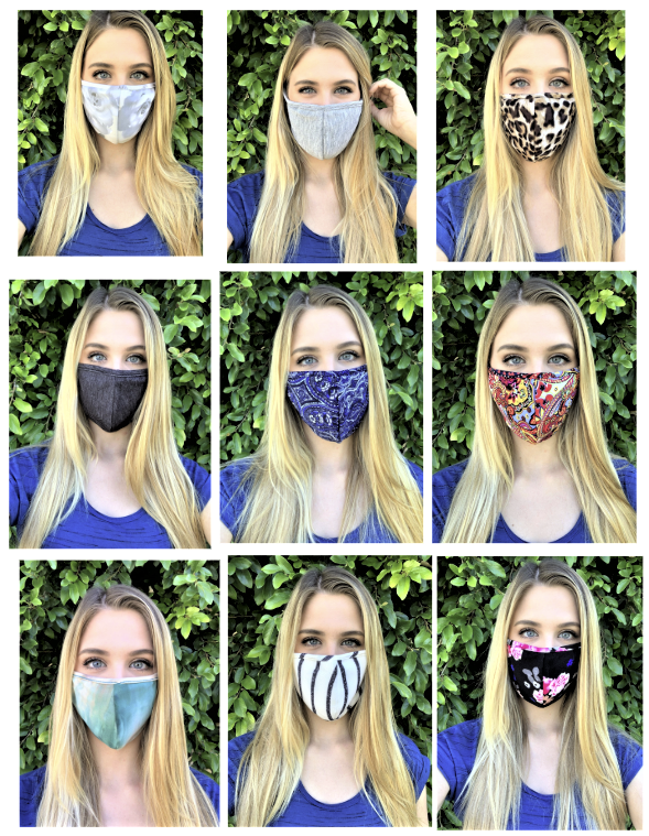 Assorted Comfortable Double Layer Printed Face Mask