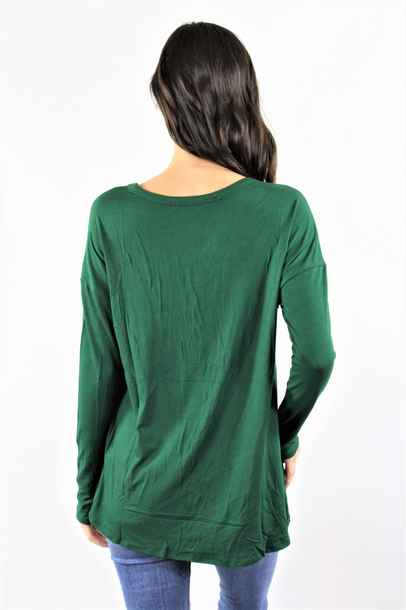 Long Sleeve Criss Cross Chest