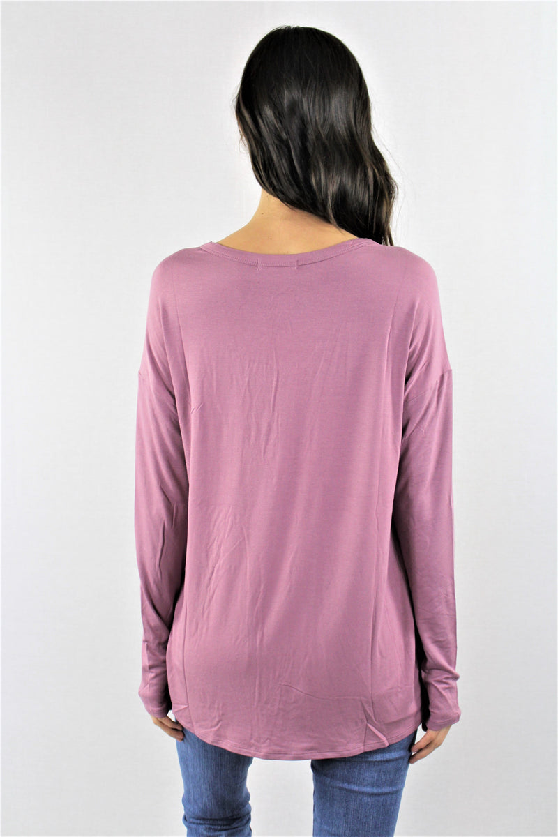 Women's Long Sleeve Criss Cross Chest