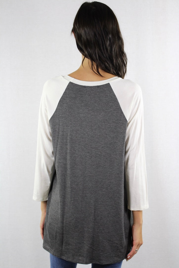 Women's 3/4th Sleeve Raglan Tee
