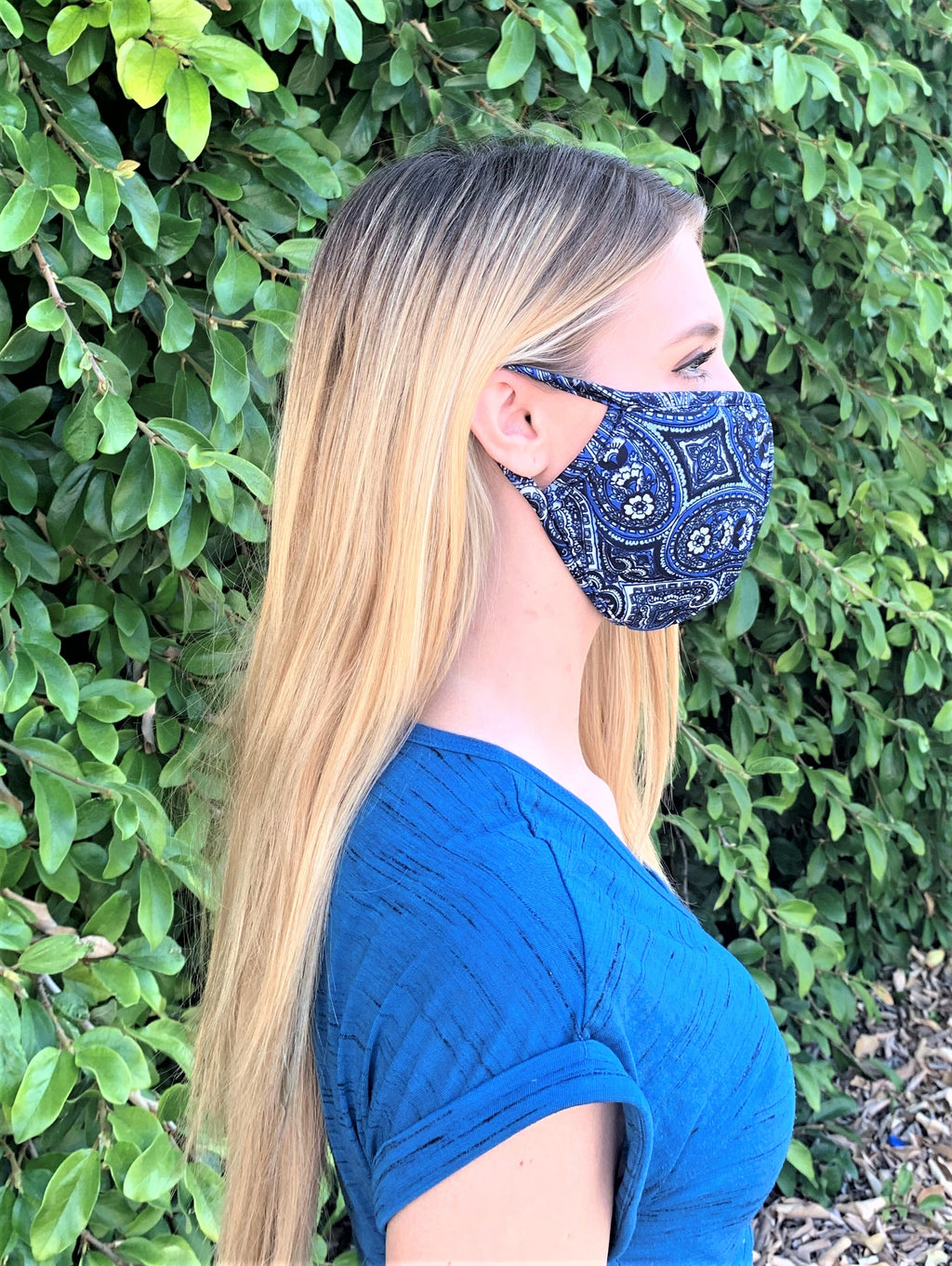 Bandana Print Comfortable Double Layer Face Mask