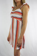 Women's Sleeveless Stripe Print Mini Dress