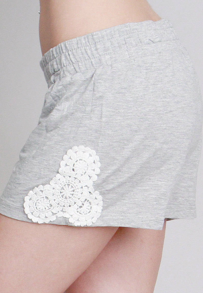 Women's  Shorts with Crochet Side Design