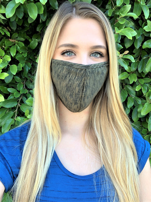 Green Print Comfortable Double Layer Face Mask
