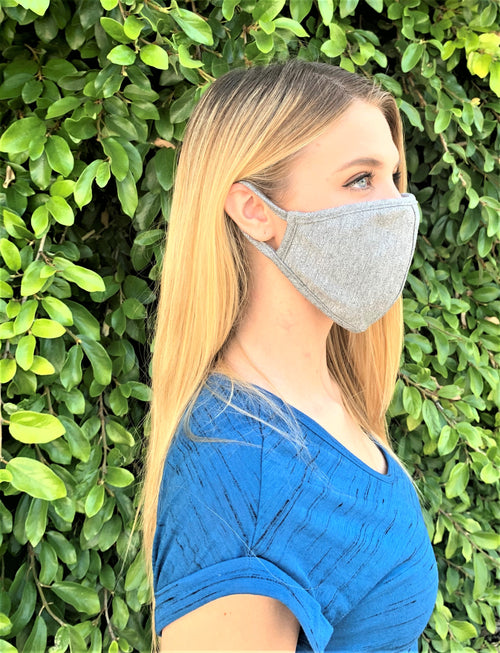 Heather Gray Comfortable Double Layer Face Mask (5)