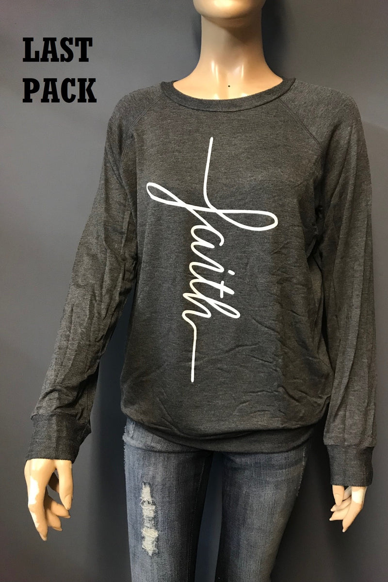 Women's Long Sleeve Top with Print