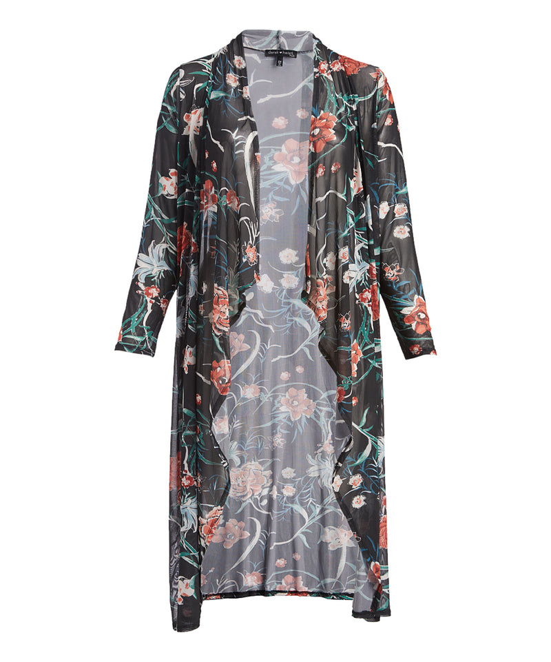 PLUS SIZE Floral Sheer Duster