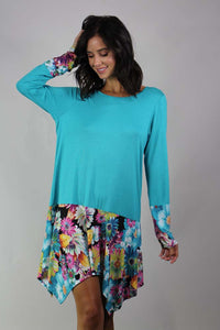 long sleeve floral detailed tunic
