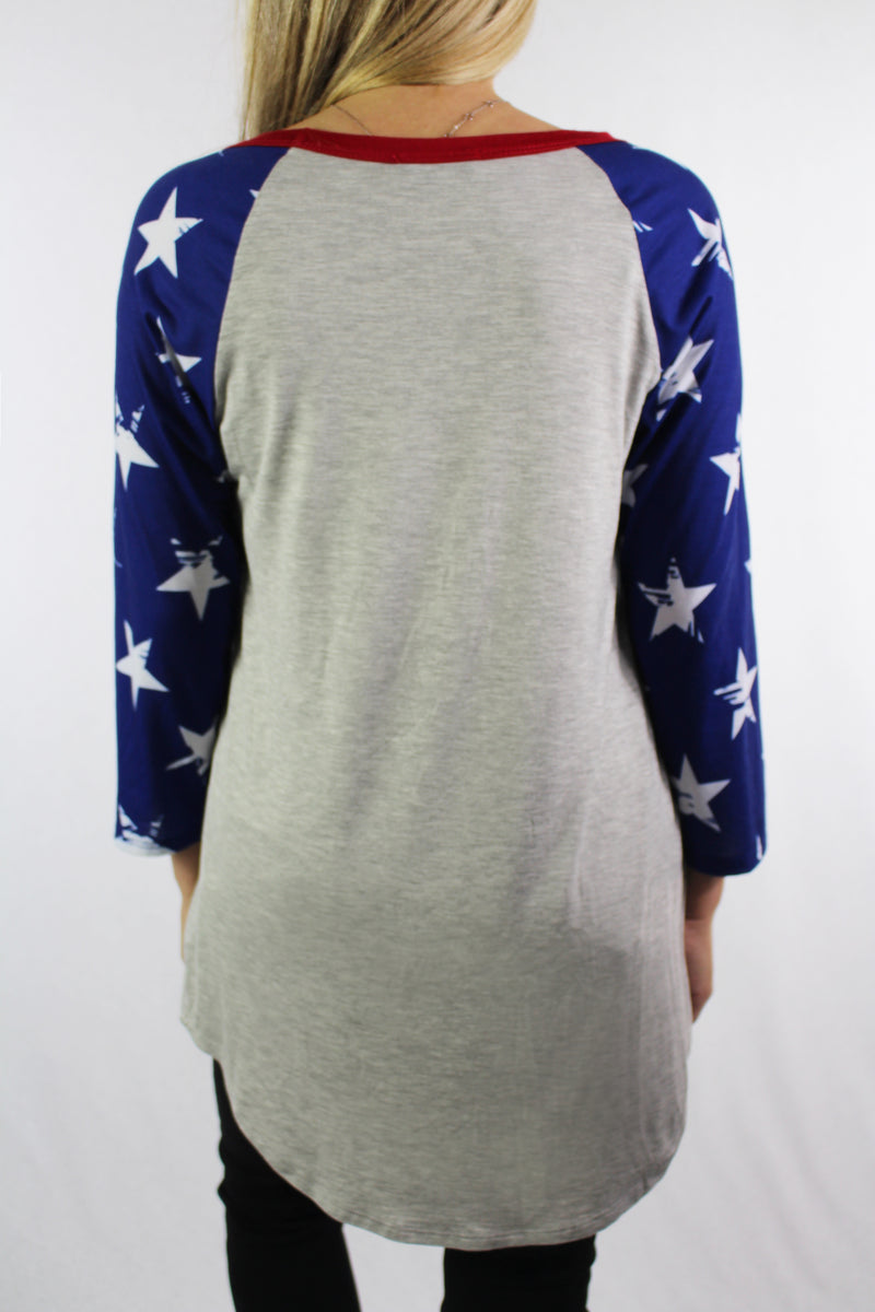 3/4th Star Sleeve Top