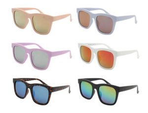 Classic Shades With Mirrored Lense