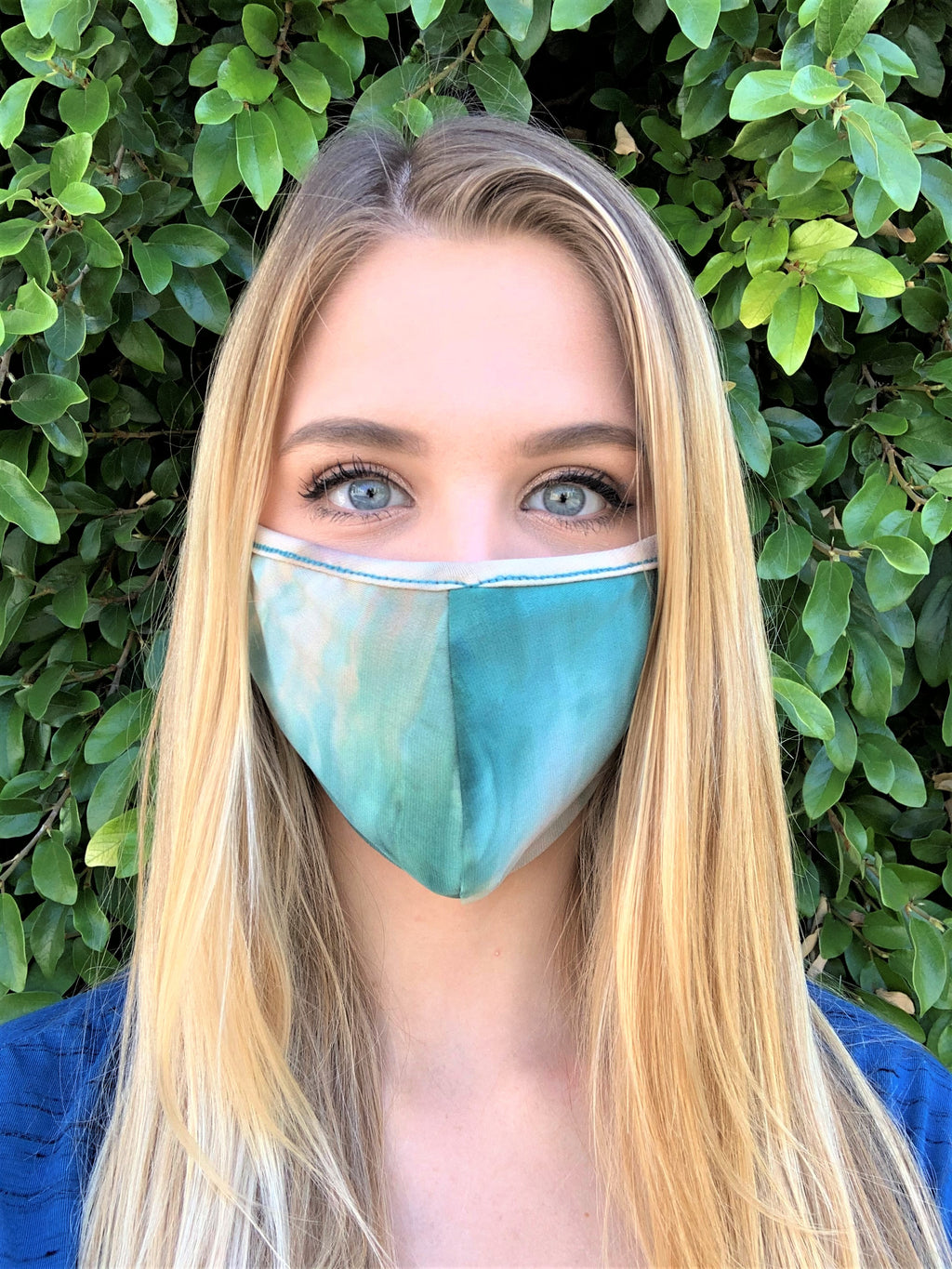 Tie Dye Print Comfortable Double Layer Face Mask